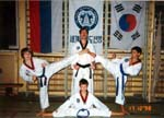 Tae kwon do kids with the coach   Таеквондята с тренером